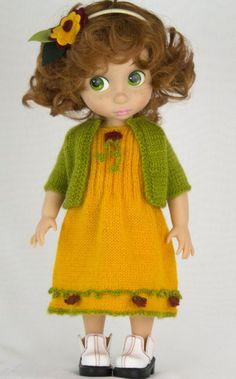 Doll Clothes / Disney Animator Doll Rapunzel / Knitting