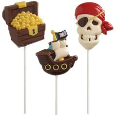 Pirate Lollipop Mold | 1ct for $2.00 in Lollipop and Candy Molds - Candy