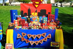SUPERHERO Party - Comic Happy Birthday BANNER - Comic Party - Hero Party - Super Hero Party - Superman Party - superman banner