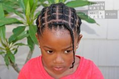 Little Black Girls Hairstyles : Chocolate Hair / Vanilla Care: Piggyback Braids (or Faux Cornrows) WITHOUT Elast. Chocolate Hair / Vanilla Care: Piggyback Braids (or Faux Cornrows) WITHOUT Elastics Sharing is caring, don't Lil Girl Hairstyles, Natural Hairstyles For Kids, Kids Braided Hairstyles, African Hairstyles, Down Hairstyles, Natural Hair Styles, Short Hair Styles, Toddler Hairstyles, Hair Threading