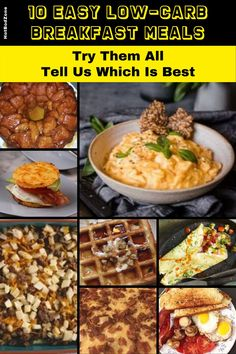 Easy Low-Carb Meals -- Try these delicious and decadent recipes for your next breakfast. #hotbodzone