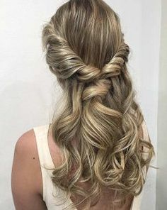 Curly Twisted Half Updo