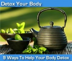 Detox your body by exercising, drinking green tea, drinking hot water with lemon, reducing/eliminating processed foods, dry skin brushing, eating foods high in antioxidants, drinking water, sweating, and reducing stress.