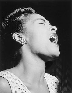 Billie Holiday . . . Strange Fruit.   Referencing Lynching of Black people. So true!