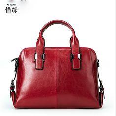 100% REAL Natural Genuine Leather women leather handbags High quality famous designer brand bags Tassel shoulder messenger bag #Affiliate