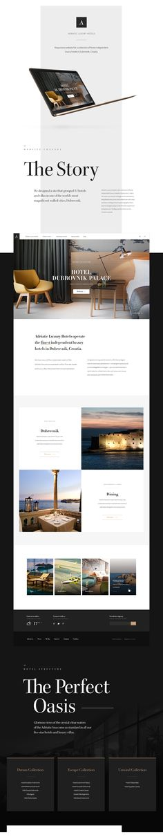 Adriatic Luxury Hotels Website on Behance