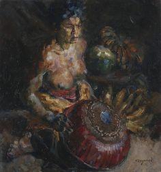 Willem Dooijewaard - Vrouw verkoopt fruit