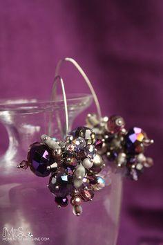 Purple Fireworks Earrings by momentsthatshine.com <3