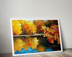 Poster lago com moldura