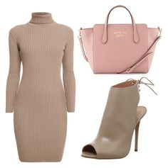 """#fall"" by skajackson on Polyvore featuring Office, Rumour London, Gucci, brown, natural and fall2015"