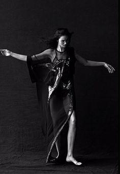 "Mariacarla Boscono  in ""Mariacarla Portrayed"" by Peter Lindbergh for Vogue Italia January 2014"