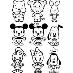 Disney Cuties Coloring Page | Disney Coloring Pages | Pinterest ...