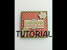 DIY Tutorial mini album una pagina mini one sheet ideas para regalar manualidad facil - YouTube