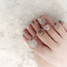 Fancy Nails Designs, Nail Art Designs, Beautiful Toes, Gorgeous Nails, Feet Nail Design, Cute Toe Nails, Japanese Nail Art, Feet Nails, Bridal Nails