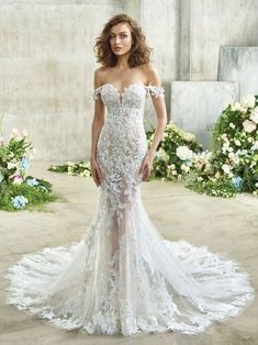 Etta Front Perfect Wedding Dress, Dream Wedding Dresses, Designer Wedding Dresses, Bridal Dresses, Girls Dresses, Wedding Gowns, Allure Bridal, Bridal Collection, Dress Collection