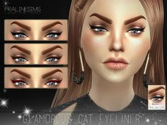The Sims Resource: Glamorous Cat Eyeliner N15 by Pralinesims • Sims 4 Downloads