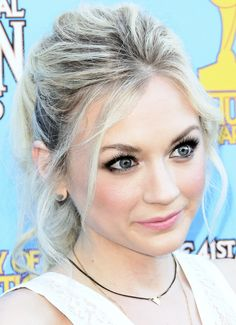Actress Emily Kinney attends the 41st annual Saturn Awards at The Castaway on June 25, 2015 in Burbank, California.
