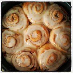 Pioneer Woman's Cinnamon Rolls ... to die for! I LOVE cinnamon rolls! :)