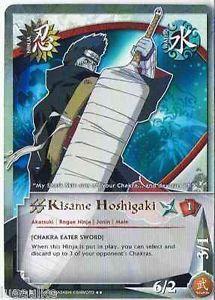 N-324 Kisame Hoshigaki Gold letters Rare Naruto Card