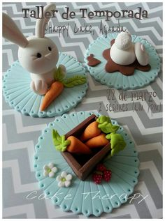 Easter cupcake toppers - For all your cake decorating supplies, please visit craftcompany.co.uk