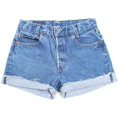Vintage Levis 113 XS ($45) ❤ liked on Polyvore featuring shorts, bottoms, denim shorts, pants, denim short shorts, levi shorts, high waisted shorts and short jean shorts