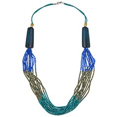 Alexa Starr Color-Blocked Bead Necklace