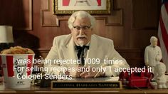 """""""I was being rejected 1009 times for selling recipes and only 1 accepted it."""" ------- Colonel Senders   Happy New Year! #year2016  #colonelsenders #kfc #nevergiveup #thinkpositive #think #positive #believe #believing #inspiration #inspirational #motivation #motivational #quotes #thinkbig #teamwork #cashflow #mastermind #entrepreneurship #entrepreneurs #success #business #businesses #businessowner #leader #leadership #freedom #dailypin #shyle16   Follow FB…"""