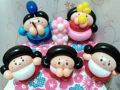 Korean family Twisting Balloons, Mini Balloons, Balloon Cartoon, Ballon Decorations, Balloon Crafts, Balloon Dress, Balloon Animals, Chibi, Minis