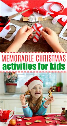 Looking to create some holiday memories with the family. You don't need to spend a lot of money. Here are some Memorable Christmas Activities for Kids that the whole family will enjoy. Frugal Christmas, Christmas Crafts For Kids To Make, Christmas Activities For Kids, Craft Projects For Kids, Holidays With Kids, Family Activities, All Things Christmas, Kids Christmas, Holiday Crafts