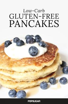 These Wheat-Free Gluten Free Pancakes from Wheat Belly Cookbook Are Perfect For a Low-Carb Brunch - triple serving size Low Carb Pancakes, Gluten Free Pancakes, Low Carb Breakfast, Breakfast Recipes, Almond Pancakes, Protein Pancakes, Almond Recipes, Gluten Free Recipes, Low Carb Recipes