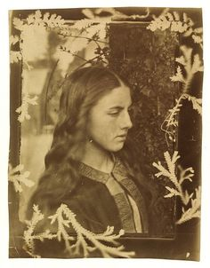 [Kate Dore with frame of plant forms Cameron, Julia Margaret, born 1815 - died 1879]