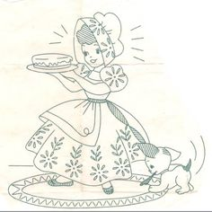 Lace 'n' Ribbon Roses: Superior #183 Sunbonnet Sue Redwork or Hand Embroidery Transfer .... Vintage Things Thursday