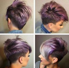 Messy Short Hair Cut with Side Long Bangs – 2015- 2016 Hairstyle New Trends…