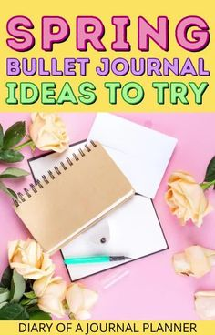 Make your spring bullet journal spreads stunning with our round up of the best spring-themed bujo ideas! #bulletjournaltheme #springbulletjournal #bulletjorunalideas Bullet Journal Cover Page, Bullet Journal Tracker, Bullet Journal Hacks, Bullet Journal Printables, Bullet Journal Mood, Bullet Journal Themes, Bullet Journal Spread, Bullet Journal Layout, Journal Covers