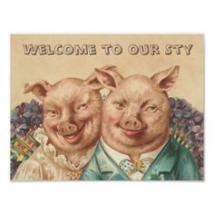 Welcome to our Sty Vintage Pig Poster