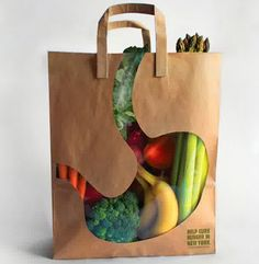 creative ideas design packaging city harvest stomach bag