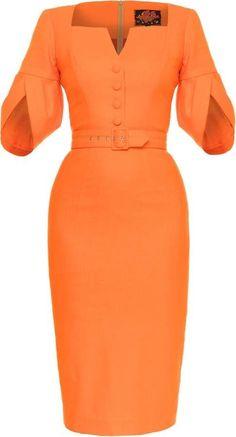 Lena Hoschek Bossa Nova Fitted Knee-Length Dress - All About Elegant Dresses, Cute Dresses, Casual Dresses, Dresses With Sleeves, Knee Length Dresses, Fitted Dresses, Office Dresses, Dresses For Work, African Fashion Dresses