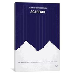 iCanvas Scarface Minimal Movie Poster Gallery Wrapped Canvas Art Print by Chungkong Minimal Movie Posters, Minimal Poster, Scarface Movie, Drug Cartel, Al Pacino, Greed, Book Design, Minimalism, Canvas Prints