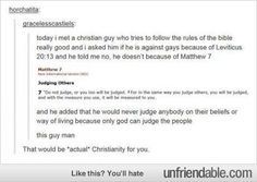 THIS. We need more Christians like this. This is what true Christianity looks like.