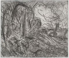Leon Kossoff. <em>From Constable: Stoke-by-Nayland (plate 1). </em>Private collection © Leon Kossoff