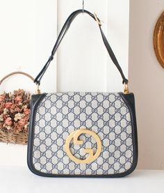 Vintage Gucci Bag - Monogram Big Logo 2 ways shoulder handbag purse authentic by hfvin on Etsy