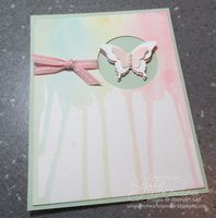 Photo Tutorial: Easy Watercolor Drip Technique - Song of My Heart Stampers