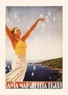 SANTA-MARGHERITA POSTER Genoa Travel Poster by EncorePrintSociety