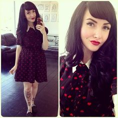 confessionsofaloveletter: Taken with Instagram    #hair #rockabilly #retro