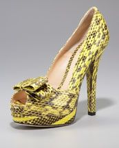 Fendi Deco Watersnake Platform Pump  $895.00