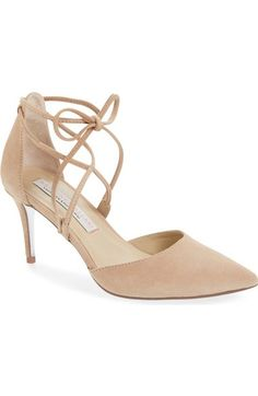 Kristin Cavallari 'Opel' Lace-Up Pointy Toe Pump (Women) available at #Nordstrom
