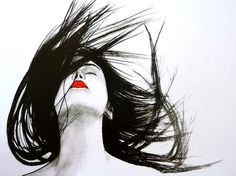 Dream on her hair @serdomania by Serden Andic #pinspiration Limited Edition print 12x17 $21.00