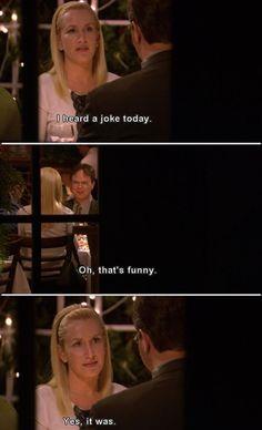 Dwight and Angela. Lol LX