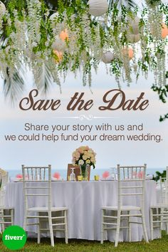 Don't miss out on your chance to win $25k for your dream wedding. Enter at fiverr.com/savethedate!