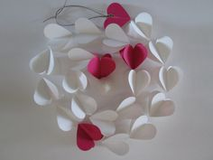 Think Pink  Breast Cancer Awareness Paper Hearts by futtatinni, $10.00 - 10% of proceeds will be donated to Think Pink in Belgium.
